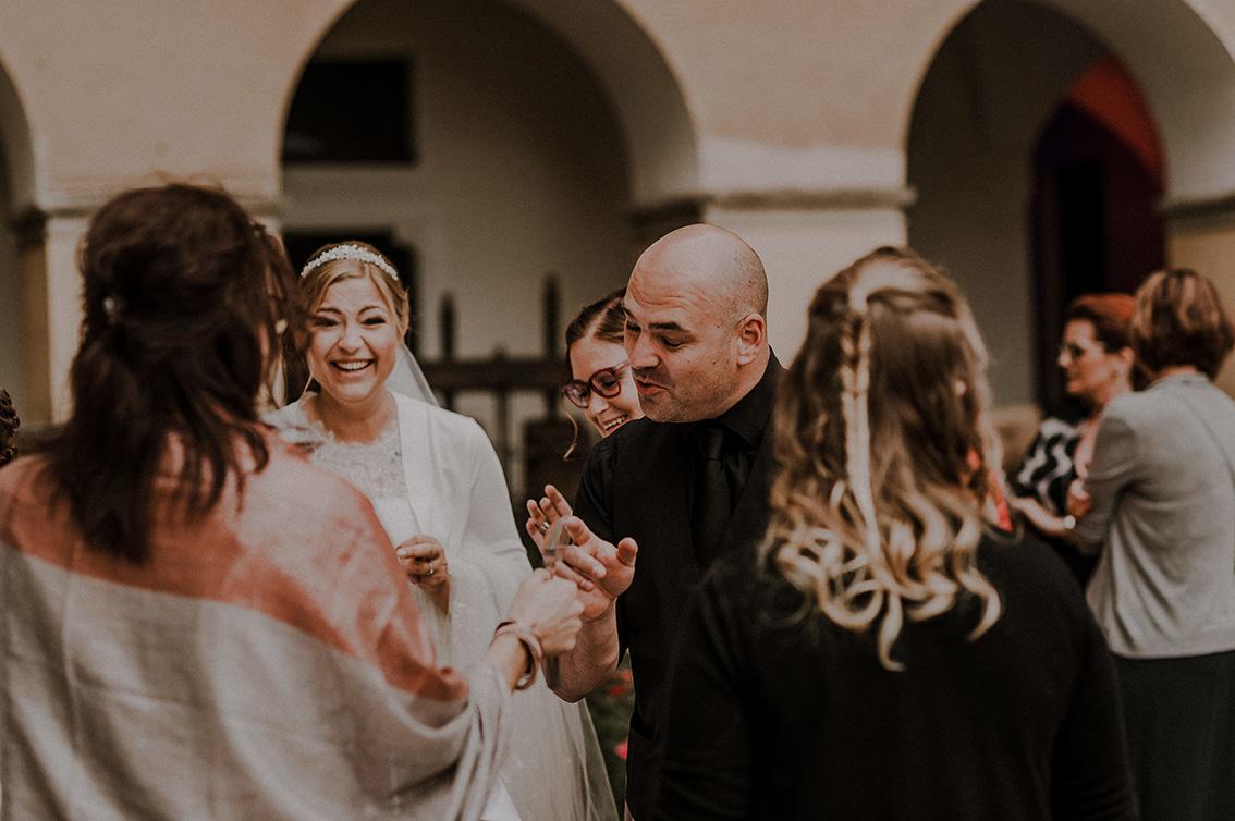 Hochzeit Zauberei am Tisch