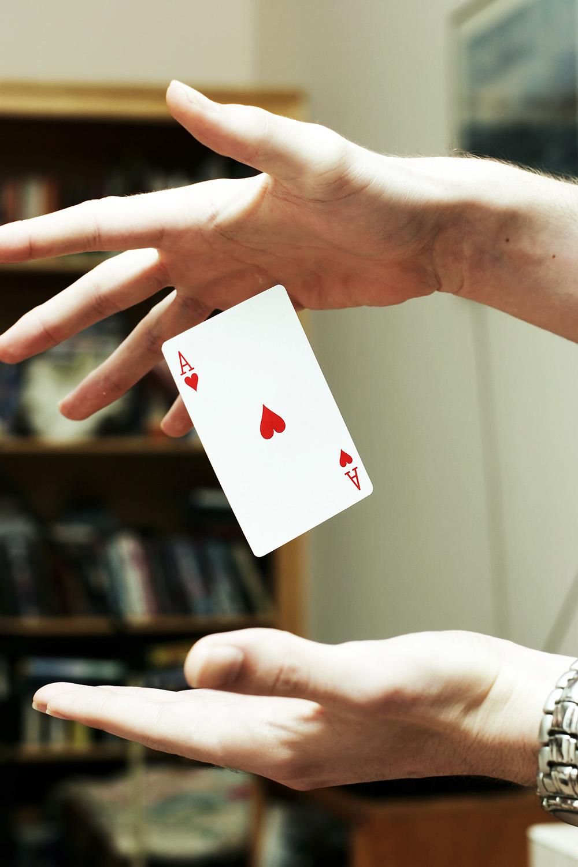 Kartentrick üben